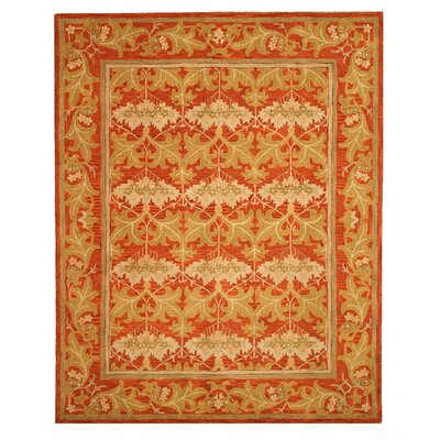 Mankachar Hand-Tufted Orange Area Rug