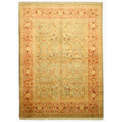 Manwath Hand-Knotted Brown Area Rug