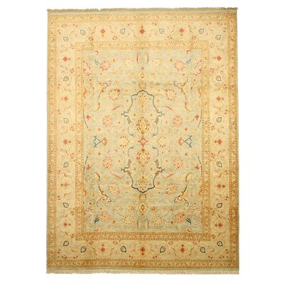 Margherita Hand-Knotted Beige Area Rug