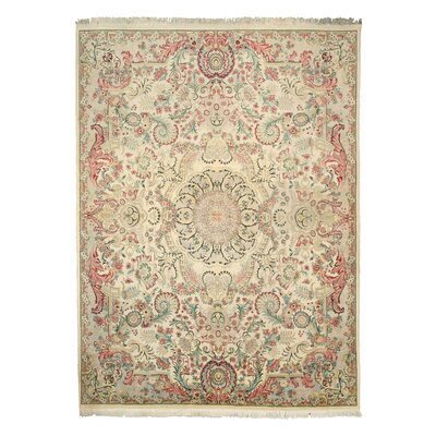 Mariani Hand-Knotted Beige Area Rug