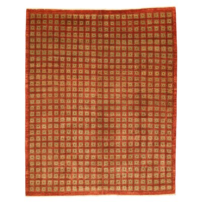 Marigaon Hand-Knotted Red Area Rug