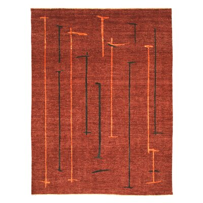 Markapur Hand-Knotted Red Area Rug