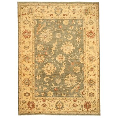 Mattannur Hand-Knotted Green Area Rug