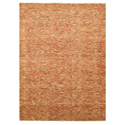 Mauganj Hand-Knotted Orange Area Rug