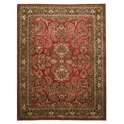Hand-Knotted Red Area Rug Rug Size: 92 x 1111