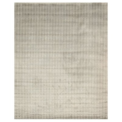 Hand-Woven Silver Area Rug Rug Size: 79 x 99