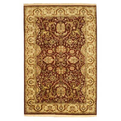 Abu Hand-Knotted Brown/Beige Area Rug
