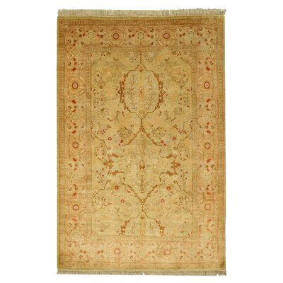 Hand-Knotted Gold Area Rug