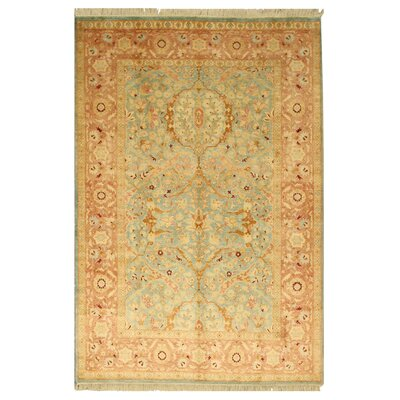 Hand-Knotted Beige Area Rug Rug Size: 61 x 9