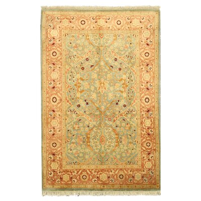 Hand-Knotted Beige Area Rug Rug Size: 511 x 9