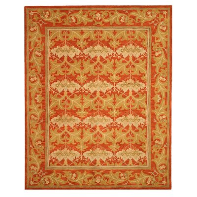 Hand-Tufted Red/Beige Area Rug Rug Size: Rectangle 4 x 6