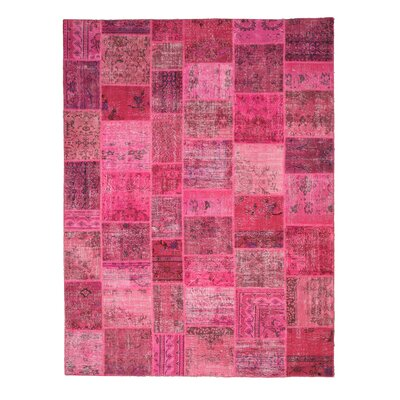 Hand-Knotted Pink Area Rug