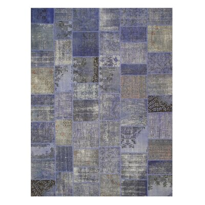 Narayanpet Hand-Knotted Purple Area Rug