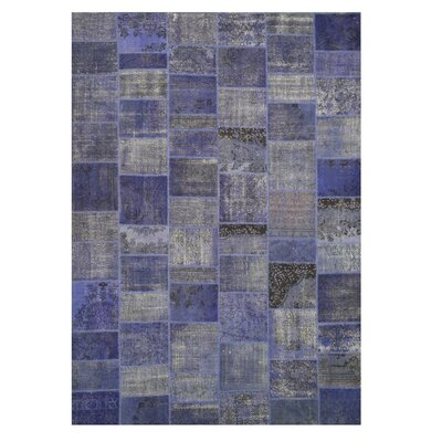 Narnaul Hand-Knotted Blue Area Rug