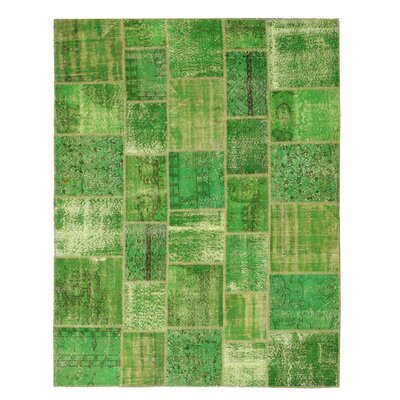 Narwana Hand-Knotted Green Area Rug