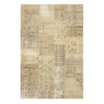 Natham Hand-Knotted Beige Area Rug