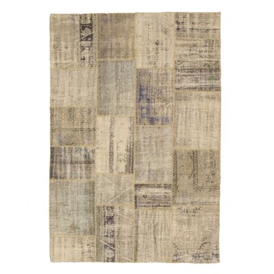 Nathdwara Hand-Knotted Beige Area Rug