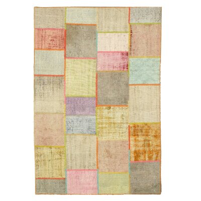 Sadat Hand-Knotted Beige Area Rug