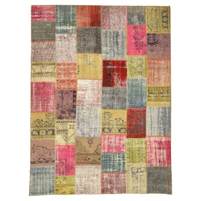 Nautanwa Hand-Knotted Red Area Rug