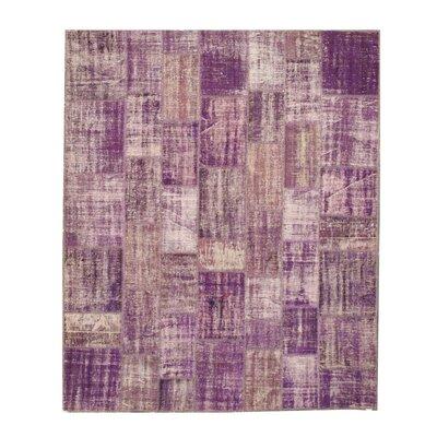 Nawada Hand-Knotted Purple Area Rug Rug Size: 86 x 104