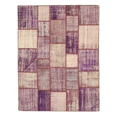 Nawada Hand-Knotted Purple Area Rug Rug Size: 67 x 87