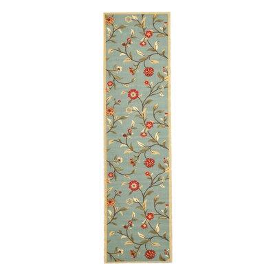 Nawanshahr Blue Area Rug Rug Size: Runner 27 x 910