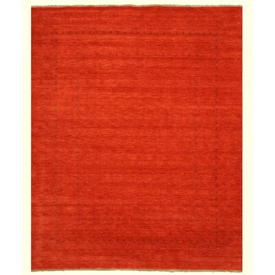 Neem Hand-Knotted Red Area Rug Rug Size: 6 x 9