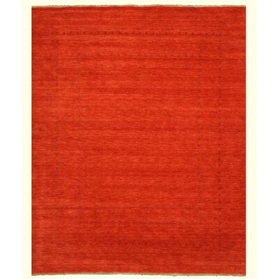 Neem Hand-Knotted Red Area Rug Rug Size: 9 x 12