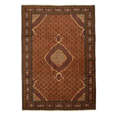 Nidadavole Hand-Knotted Brown Area Rug