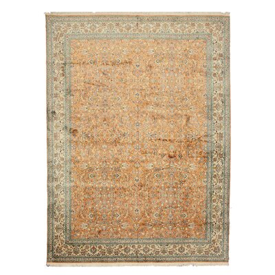 Nilambur Hand-Knotted Orange/Beige Area Rug