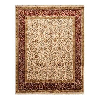 Nirmal Hand-Knotted Beige Area Rug