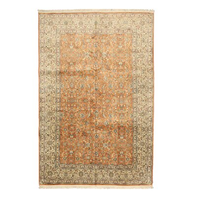 Niwai Hand-Knotted Orange/Beige Area Rug