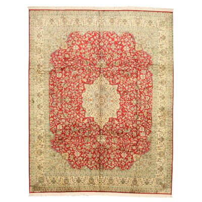 Nokha Hand-Knotted Beige/Red Area Rug