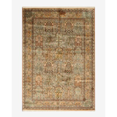 Nongstoin Hand-Knotted Beige Area Rug