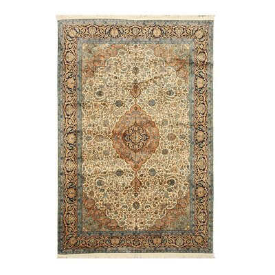 Noorpur Hand-Knotted Beige Area Rug