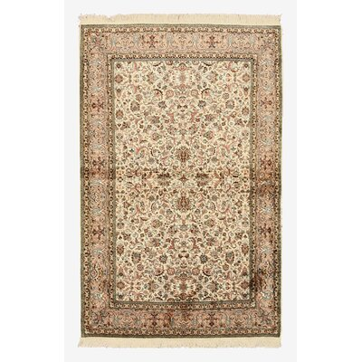 Nowgong Hand-Knotted Beige Area Rug