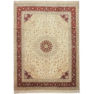Khodargama Hand-Knotted Beige Area Rug