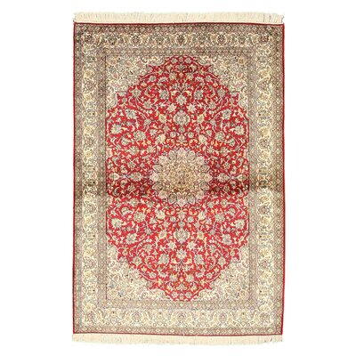 Pacode Hand-Knotted Red/Beige Area Rug