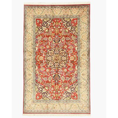 Padrauna Hand-Knotted Red/Beige Area Rug