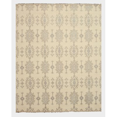 Pakaur Hand-Knotted Beige/Gray Area Rug Rug Size: Rectangle 9 x 12
