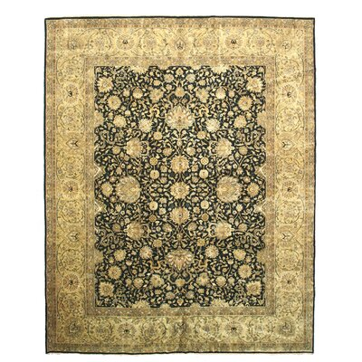 Pali Hand-Knotted Black/Beige Area Rug