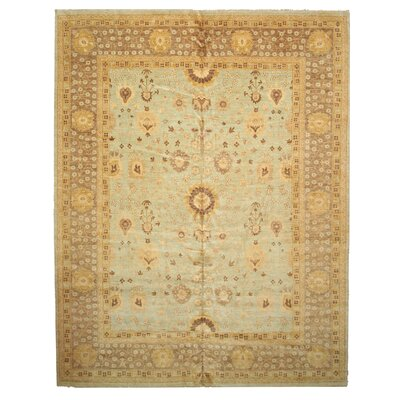 Doyers Knotted Gray Area Rug