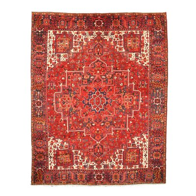 Aren Knotted Red Area Rug