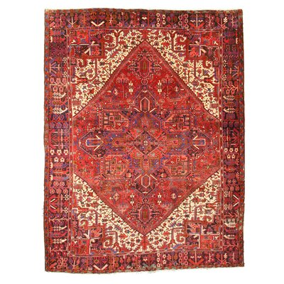 Aren Hand-Knotted Red Area Rug
