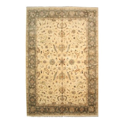 Dozier Hand-Knotted Beige Area Rug