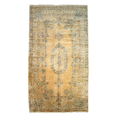 Hand-Knotted Gold/Blue Area Rug