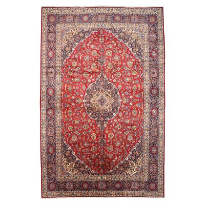 Ardal Hand-Knotted Red Area Rug
