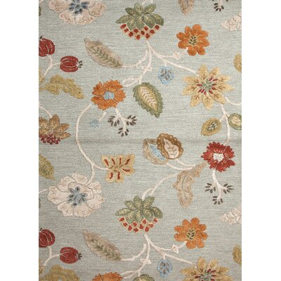 Hand-Woven Gray/Orange Area Rug Rug Size: 5 x 8