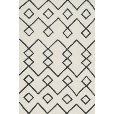 Punganur Hand-Woven Beige Area Rug Rug Size: 79 x 99