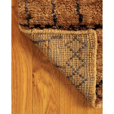 Purquazi Hand-Woven Brown Area Rug Rug Size: Rectangle 6 x 9